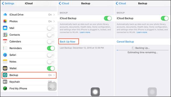 passo 2 transferir notas entre iphones