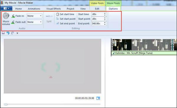 passo 3 adicionar musica video movie maker