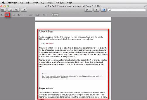 passo 3 cortar com preview no mac