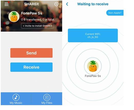 passo 3 enviar fotos do android para iphone
