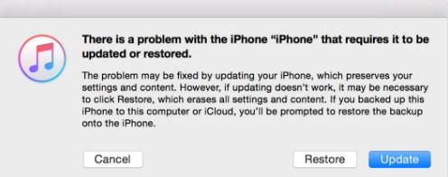 passo 3 redefinir iphone bloqueado com itunes