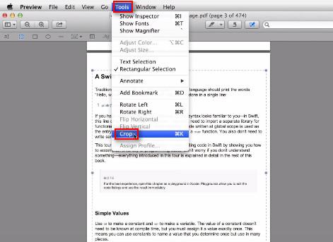 passo 4 cortar com preview no mac