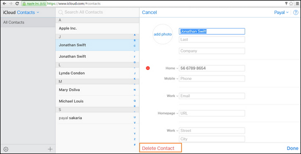 passo 4 juntar contatos iphone com icloud