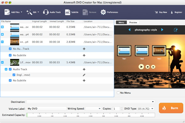 passo 5 aiseesoft dvd creator para mac