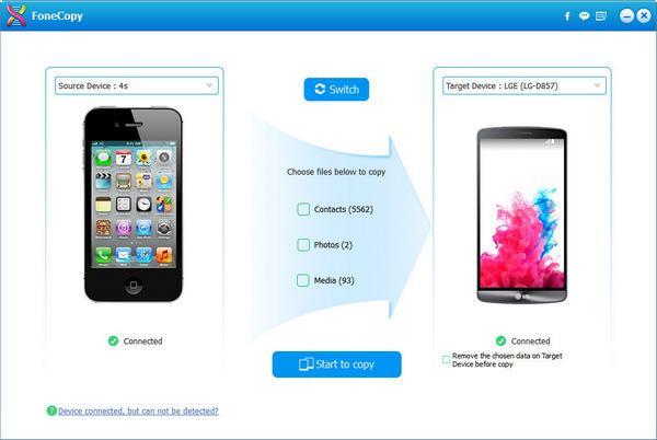 pasar datos de un móvil a otro