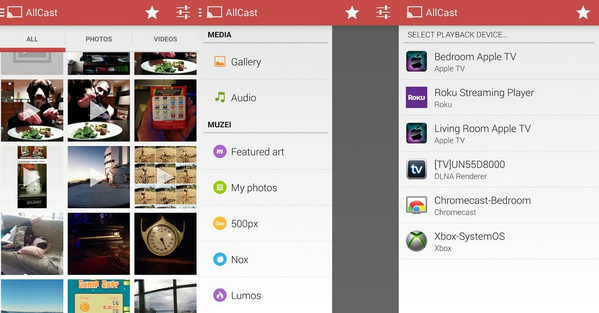 allcast android video player