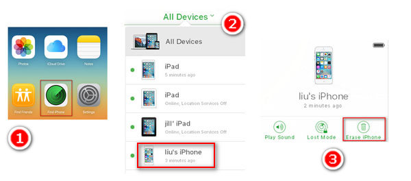 pagar iphone com find my iphone