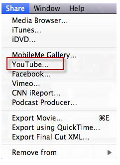 passo 1 como compartilhar video imovie