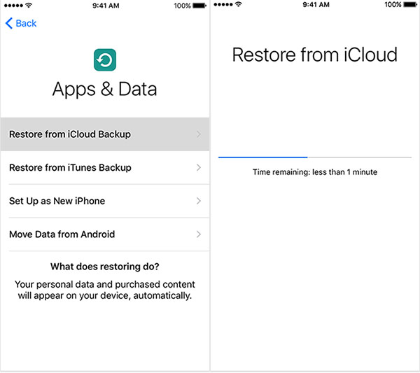passo 3 restaurar iphone do backup icloud