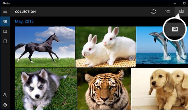 Passo 1 Importar fotos Windows 10