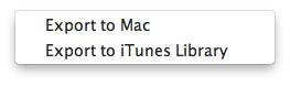 Export iPod Files