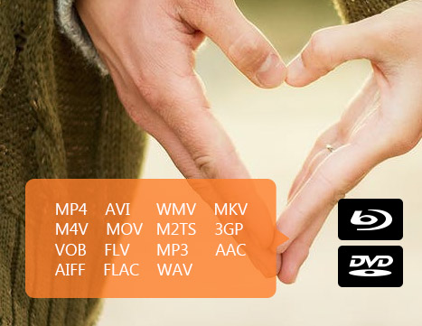 Importe archivos en diferentes formatos para crear un DVD