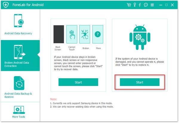 passo 1 recuperar arquivos android corrigir sistema