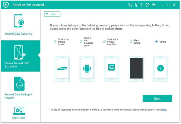 passo 2 recuperar arquivos android corrigir sistema