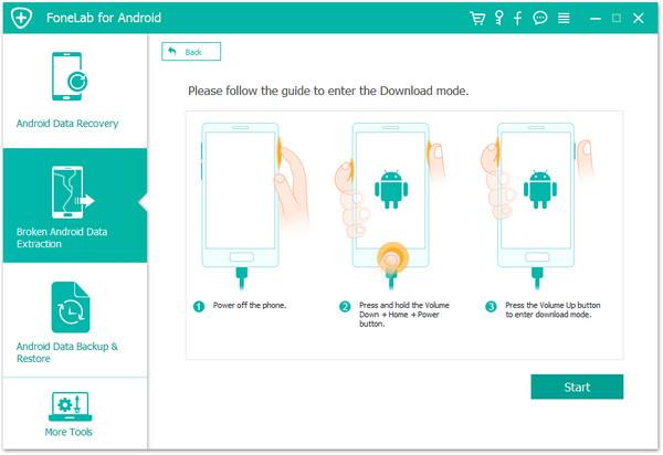 passo 3 recuperar arquivos android corrigir sistema