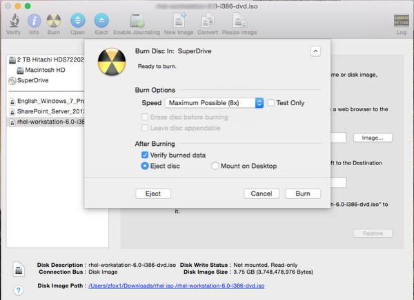 passo 5 gravar iso dvd mac