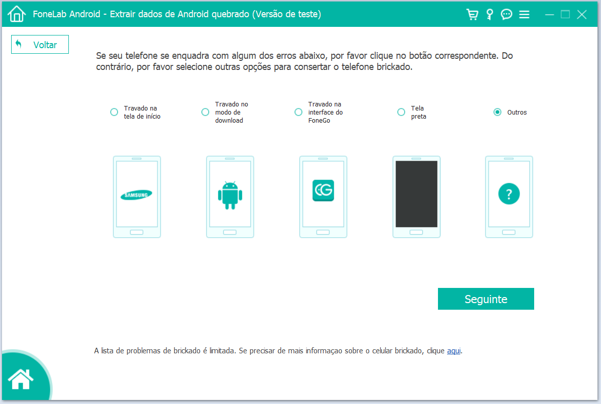 Guias de uso do Aiseesoft FoneLab Android Data Extraction