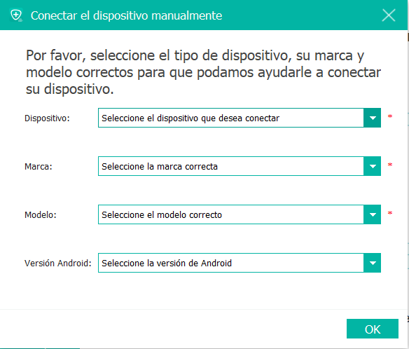 Conectar dispositivo manualmente