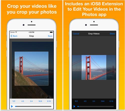 crop videos app