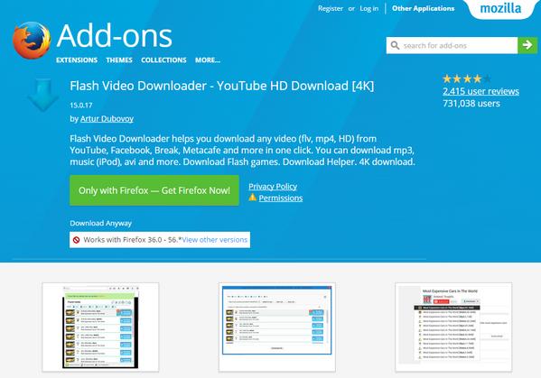 flash video downloader firefox