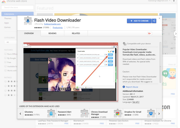 flv video downloader chrome