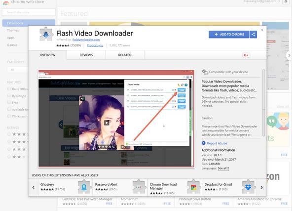 flv video downloader chrome