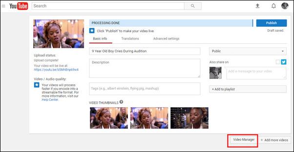 passo 2 youtube video editor