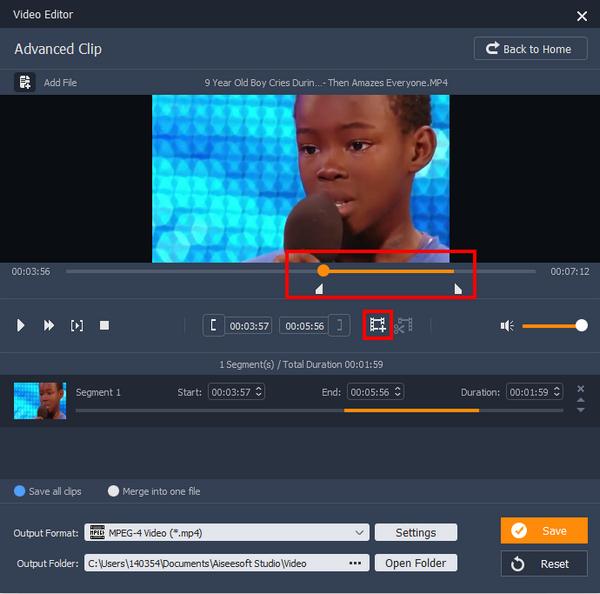 passo 3 dividir arquivos de video