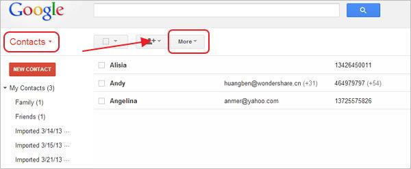 passo 3 sincronizar contatos android gmail