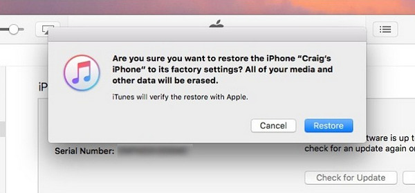passo 4 atraves restauracao iphone
