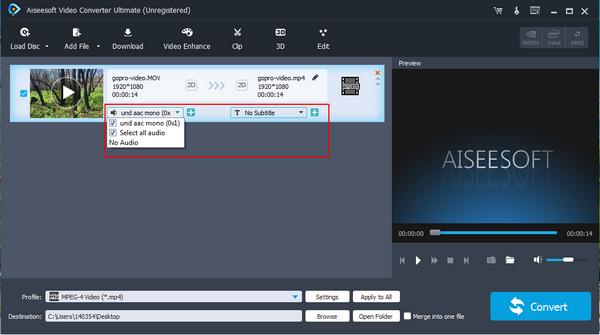 passo 4 editar video gopro enhancer