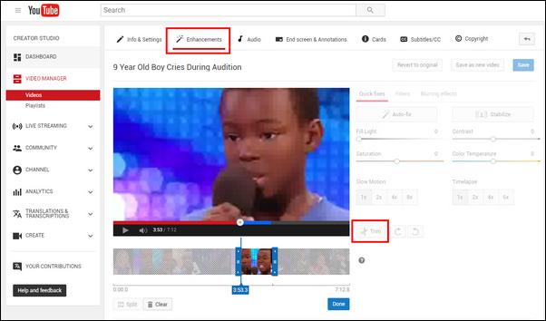 passo 4 youtube video editor