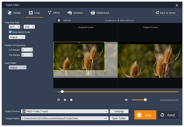 reduzir dimensoes video