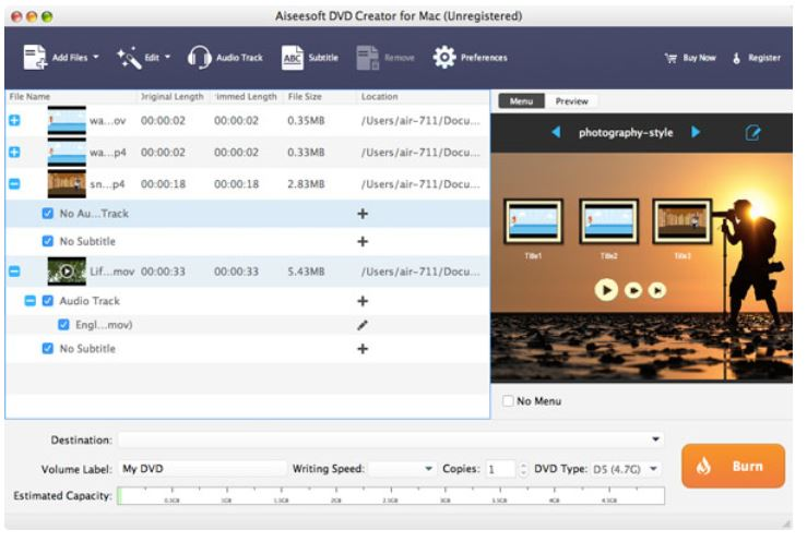 Cómo grabar DVD en Mac