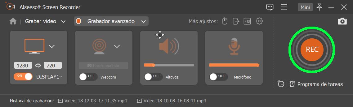 Grabar pantalla PC con audio