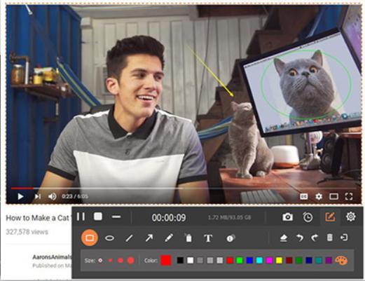 Grava vídeos com alta qualidade