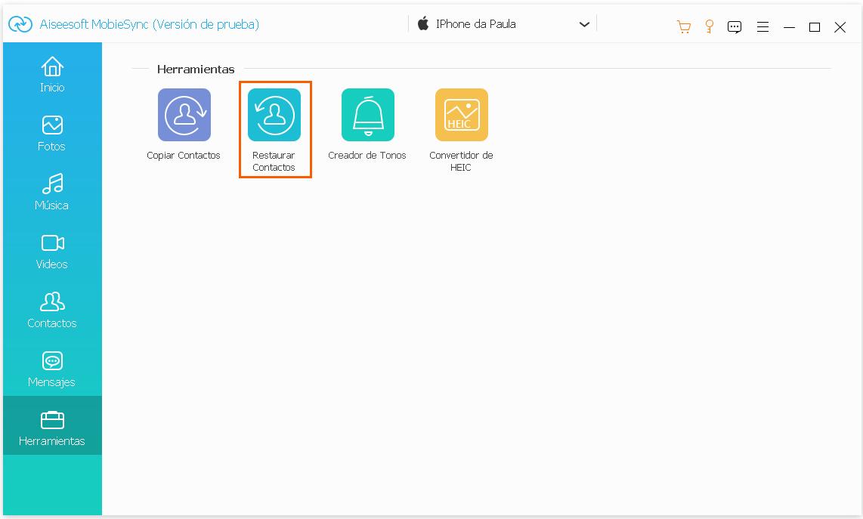 Copia de seguridad y restauración de contactos en 1 clic