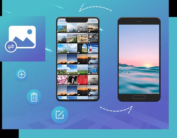 Transfiere fotos entre dispositivos iOS y Android