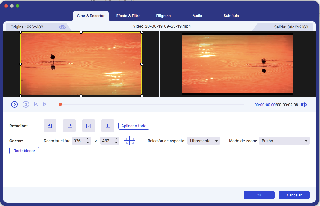Formatos de conversão de vídeo